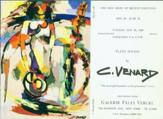 One Man Show Of Recent Paintings, May 20 - June 10, 1969. C. Venard Exclusively With Galerie...