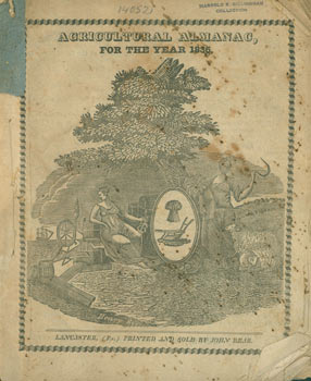 Agricultural Almanac for the Year 1836. John Bear, PA Lancaster