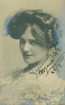 Post Card with Signed Dedication by Miss Maie Ash, sent to Mr. L. P. Schlarb, Kennington Park...