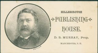 Business Card for Hillsborough Publishing House. Hillsborough Publishing House, Prop D. B....