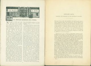 Bernard Quaritch And Others, Article from Pall Mall Magazine, 1907. Edward Cave, Projector and...
