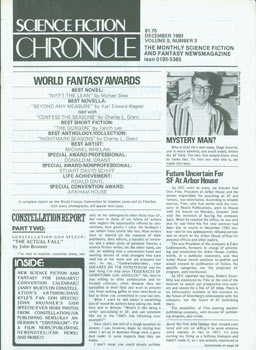 Science Fiction Chronicle: The Monthly SF and Fantasy Newsmagazine, Vol. 5, No. 3, December 1983....