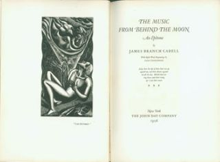 The Music From Behind The Moon. An Epitome. With Eight Wood Engravings by Leon Underwood. One of...