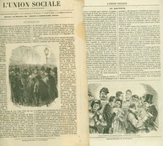 L'Union Sociale. Propaganda Antisocialiste. Original Prospectus and 12 Issues from 1849. Original...