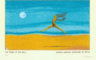 The Flight Of The Fairy. Serigraph numbered 5 of 6, and signed by the artist, with dedication to...