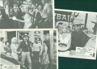 Reprints of 3 Promotional B&W Photographs for John Huston's The Misfits, starring Marilyn Monroe,...