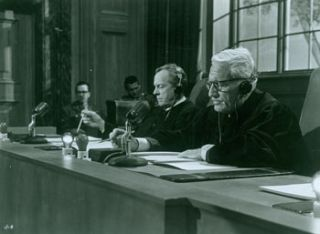 Promotional B&W Photograph for Judgment At Nuremberg, featuring Spencer Tracy. United Artists
