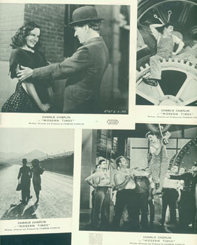 Promotional B&W Reprinted Photographs for Modern Times, featuring Charlie Chaplin. United Artists
