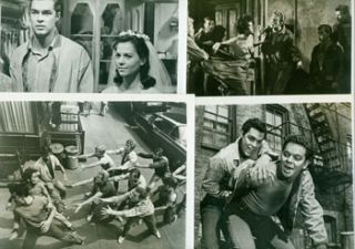 Promotional B&W Photographs for West Side Story, featuring Natalie Wood, Richard Beymer, Rita...