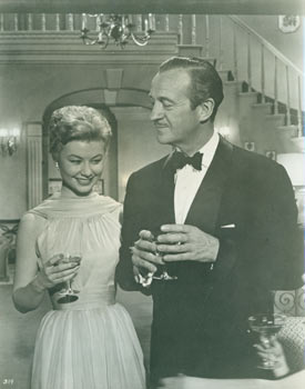Promotional B&W Photograph for Happy Anniversary, featuring David Niven & Mitzi Gaynor. United...