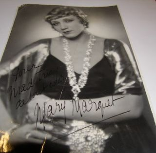 Photo autographed by Mary Marguet. Pathe-Natan, Mary Marguet, Paris