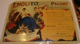 Poster for Enolito Del Chimico Pagani Borgomanero. A. Manzoni, Co, Bernini Milano, Co., Litho