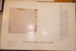 Fred Reichman Recent Work. Charles Campbell Gallery, September 30 - October 25, 1986; Smith...