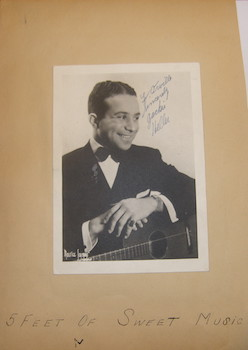 Autographed B&W Photo signed by Vaudeville star Jackie Heller, dedicated to Orville Crowe....