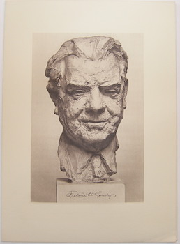 Bust of Frederic Goudy, printed in our shop in photogravure. Lawton, Alfred Kennedy