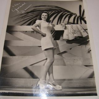 Universal Pictures Publicity Still. Autographed & inscribed. Ray Jones, Universal Pictures, photog