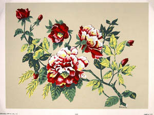 Color in Full Flower. (Hand-Made Prints) (1606-1607). Inc Donald Art Co