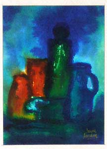 Colored Bottles. Jayne Amason