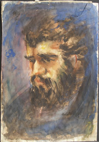 Portrait of bearded man. A. B