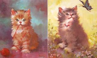 Pretty Kitties (447 - 450). Inc Donald Art Co., Florence after Kroger