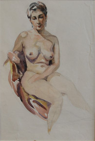 Nude woman with earrings