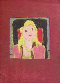 Woman with Blonde Hair in the style of the Bay Area Figurative School. Beth Stoeckle