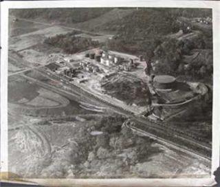 Aerial view of industrial/mining site. Aerial photographer