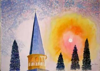 Church Spire, Sunrise (Sunset). Richard F. Barrett
