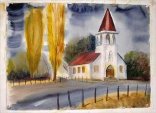 Country Church, Autumn. Richard F. Barrett