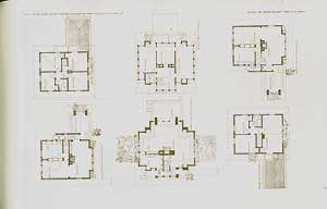 Ground plans for Three typical houses for real estate subdivision for Mr. E. C. Waller, 1909. ...