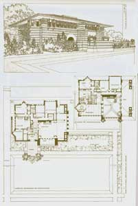 Dwelling of Arthur Heurtley, 1902. Pl. XX. Frank Lloyd Wright
