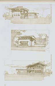 Three typical houses for real estate subdivision for Mr. E. C Waller, River Forest, 1909. Pl....
