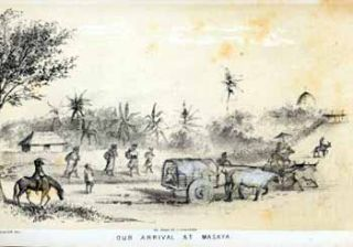Our Arrival at Masaya [Nicaragua]. John after George Victor Cooper Cameron