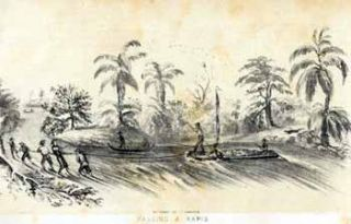 Passing a Rapid on Chagres River [Panama]. John after George Victor Cooper Cameron