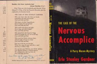 Dustjacket for The Case of the Nervous Accomplice. Erle Stanley Gardner, Edward F. O'Day