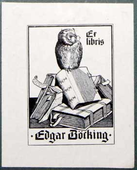 Ex Libris Edgar Böcking. Richard Sturtzkopf