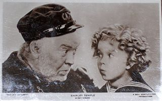 Shirley Temple & Guy Kibbee. (Scene from the motion picture Captain January, released 1936.)....