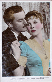 "Anton Walbrook and Diana Wynyard. (Scene from the motion picture ""Gaslight.""). 20th Century..."